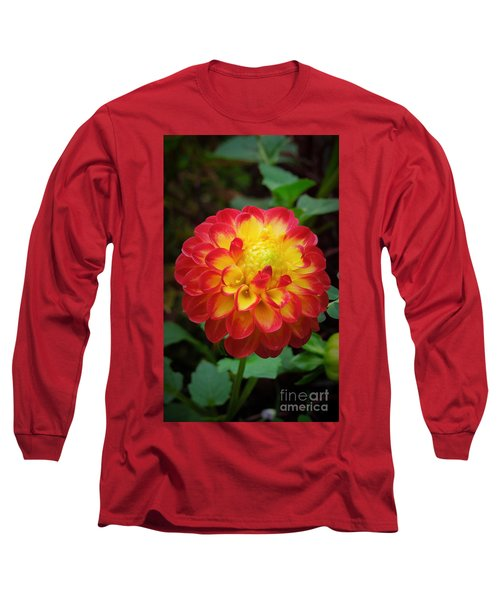 Red Tipped Petals Long Sleeve T-Shirt
