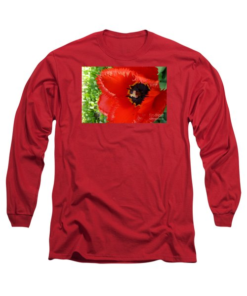 Long Sleeve T-Shirt featuring the photograph Red Tulip by Jean Bernard Roussilhe
