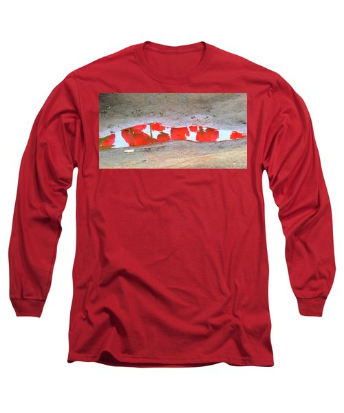 Red Tulip Reflection Long Sleeve T-Shirt
