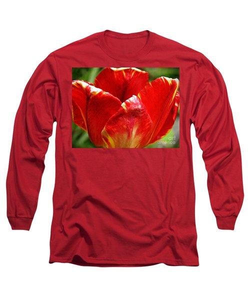 Red Tulip Long Sleeve T-Shirt by Sarah Loft