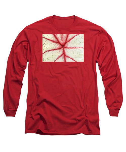 Red Veins Of A Coleus Plant Long Sleeve T-Shirt