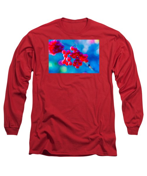 Long Sleeve T-Shirt featuring the photograph Red Viburnum Berries by Alexander Senin