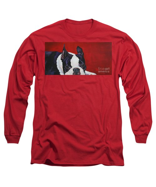 Red White And Black Long Sleeve T-Shirt
