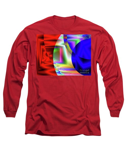 Red White And Blue 3 Long Sleeve T-Shirt
