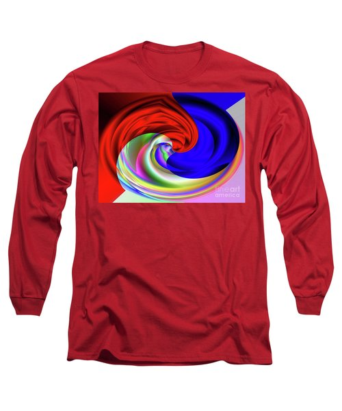 Red White And Blue 4 Long Sleeve T-Shirt