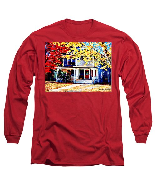 Reds And Yellows Long Sleeve T-Shirt by MaryLee Parker