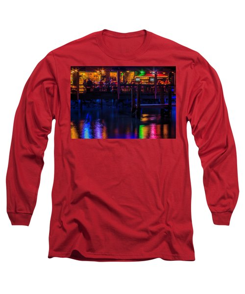 Reflections From Riverview Grill Long Sleeve T-Shirt by Dorothy Cunningham