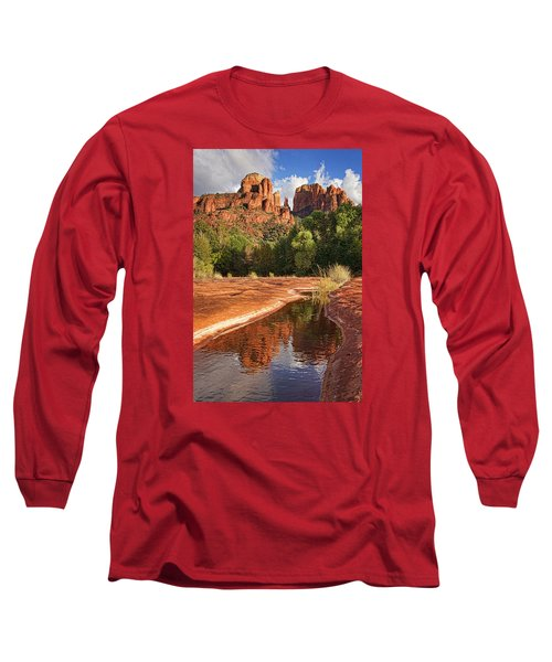 Reflections Of Cathedral Rock Long Sleeve T-Shirt