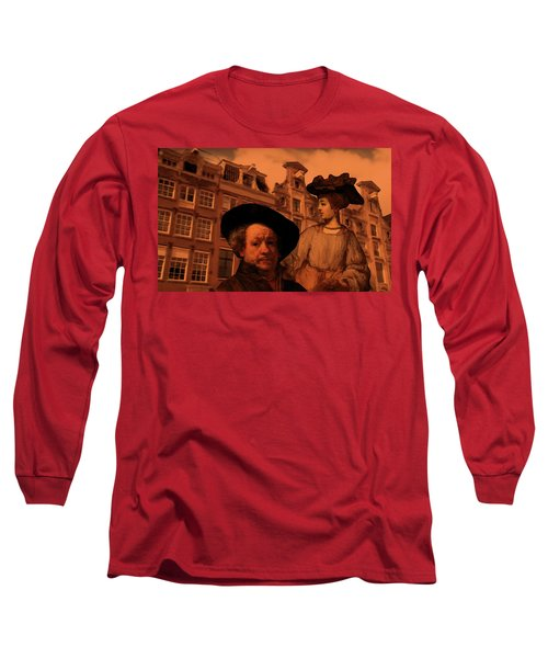 Rembrandt Study In Orange Long Sleeve T-Shirt