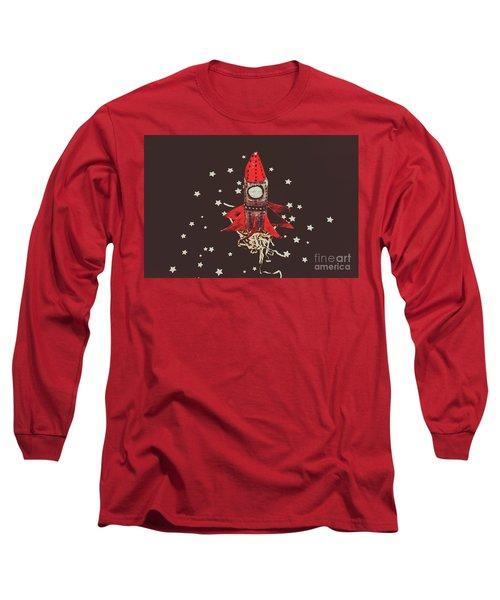 Retro Cosmic Adventure Long Sleeve T-Shirt