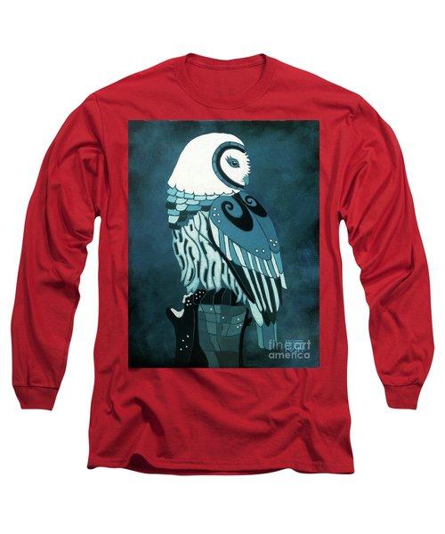 Retrospect In The Moonlight Owl Long Sleeve T-Shirt