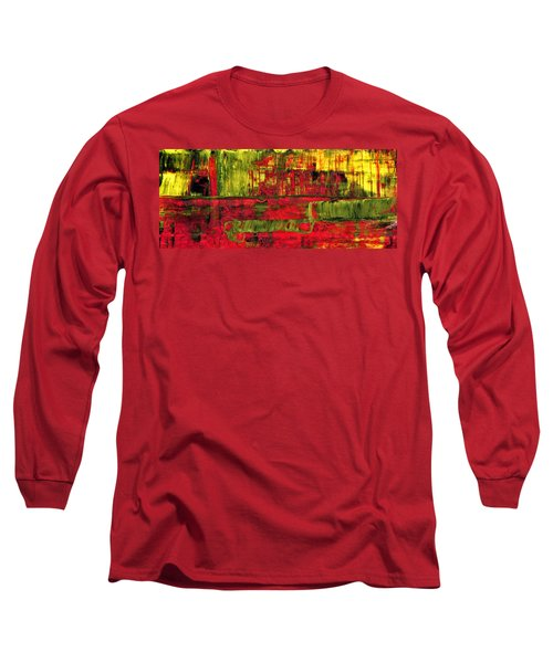 Summer Rain  - Abstract Colorful Mixed Media Painting Long Sleeve T-Shirt