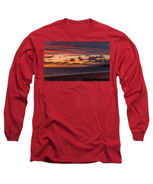 Ribbons Of Red Long Sleeve T-Shirt