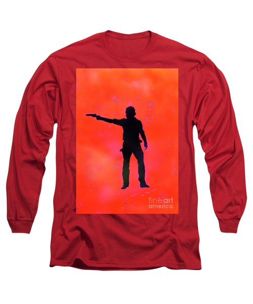 Rick Grimes Long Sleeve T-Shirt by Justin Moore