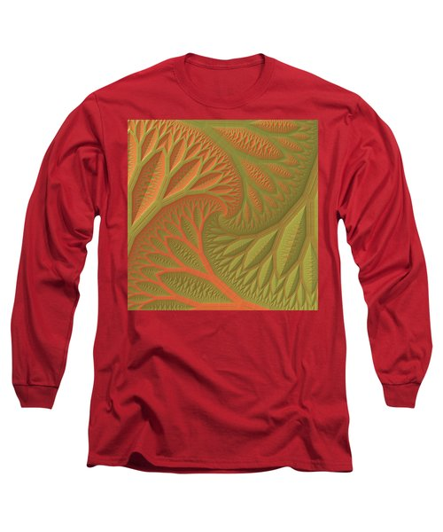 Long Sleeve T-Shirt featuring the digital art Ridges And Valleys by Lyle Hatch
