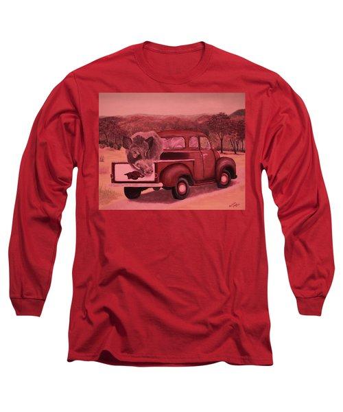 Ridin' With Razorbacks 3 Long Sleeve T-Shirt by Belinda Nagy