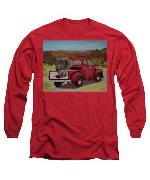 Ridin' With Razorbacks Long Sleeve T-Shirt