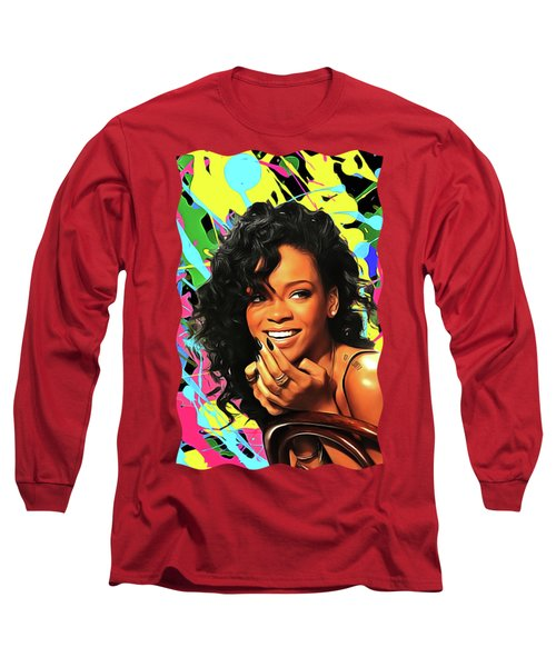 Rihanna - Celebrity Art Long Sleeve T-Shirt
