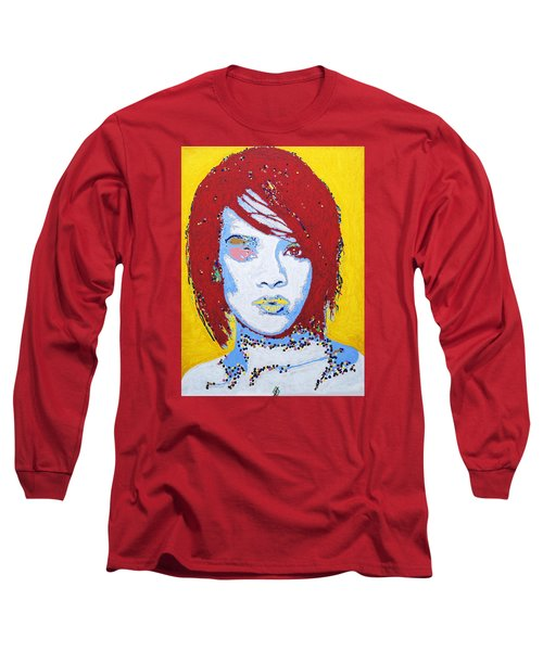 Rihanna  Long Sleeve T-Shirt by Stormm Bradshaw