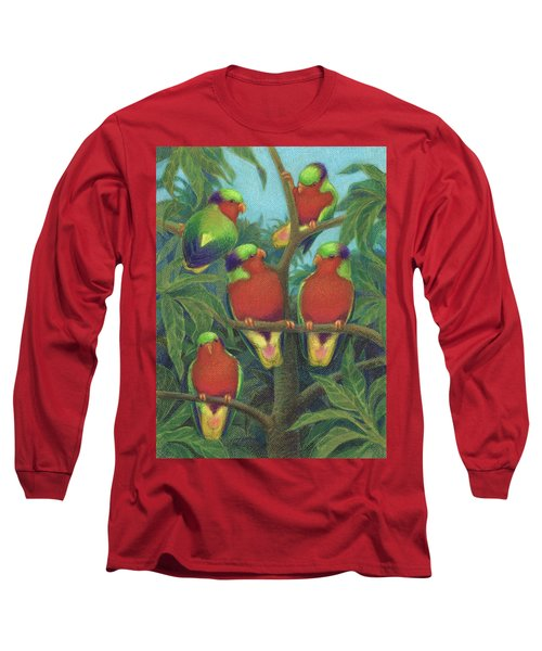 Rimatara Lorikeets Long Sleeve T-Shirt