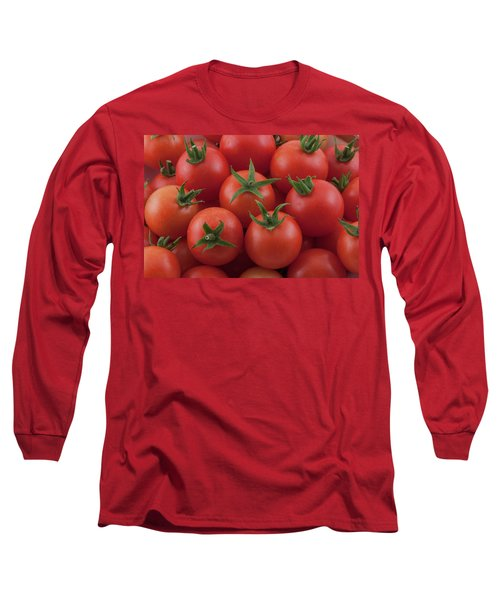 Long Sleeve T-Shirt featuring the photograph Ripe Garden Cherry Tomatoes by James BO Insogna