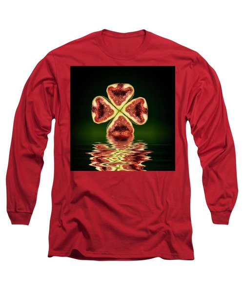 Long Sleeve T-Shirt featuring the photograph Ripe Juicy Figs Fruit by David French