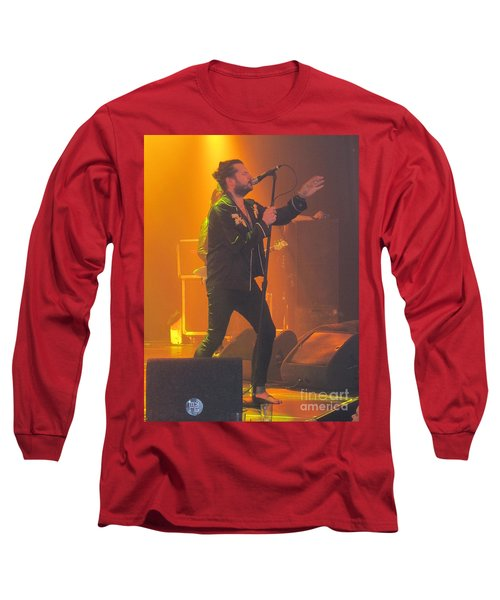 Long Sleeve T-Shirt featuring the photograph Rival Sons Jay Buchanan by Jeepee Aero