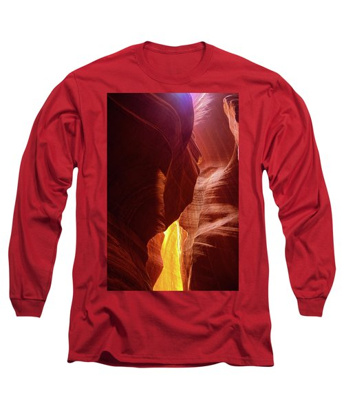 River Of Gold Long Sleeve T-Shirt by Lucinda Walter