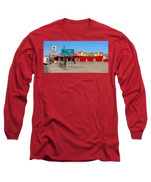 Roadkill Cafe, Route 66, Seligman Arizona Long Sleeve T-Shirt