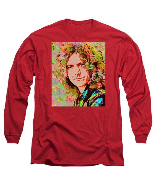Robert Plant Long Sleeve T-Shirt by Sergey Lukashin