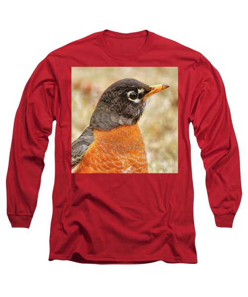 Long Sleeve T-Shirt featuring the photograph Robin by Debbie Stahre