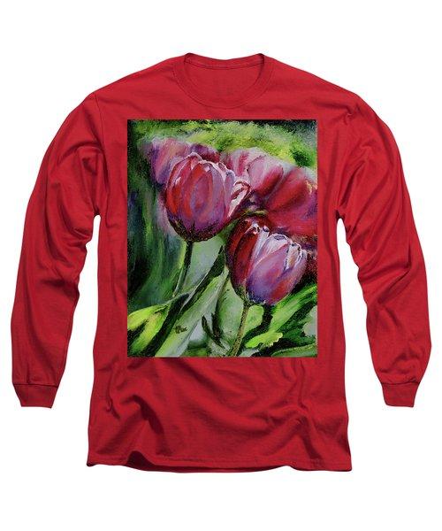 Rochelle's Springtime Tulips Long Sleeve T-Shirt