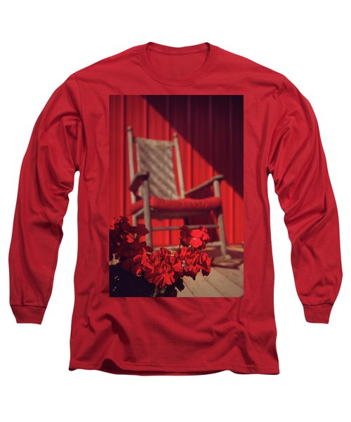 Long Sleeve T-Shirt featuring the photograph Rockin' Red by Jessica Brawley