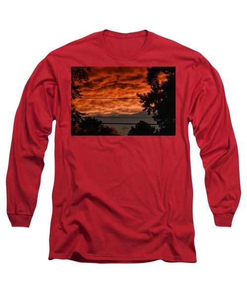 Long Sleeve T-Shirt featuring the photograph Rolling Skies by Nikki McInnes