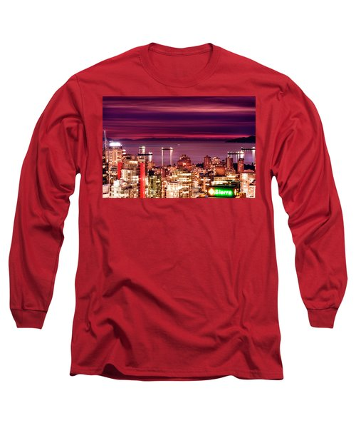 Romantic English Bay Long Sleeve T-Shirt by Amyn Nasser