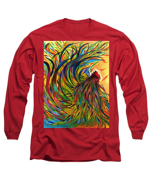 Roosters Frienship Long Sleeve T-Shirt by Fanny Diaz