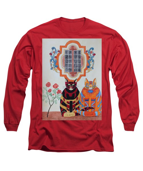 Rosa And Pedro Of The Rose Window Of Mission San Jose Long Sleeve T-Shirt