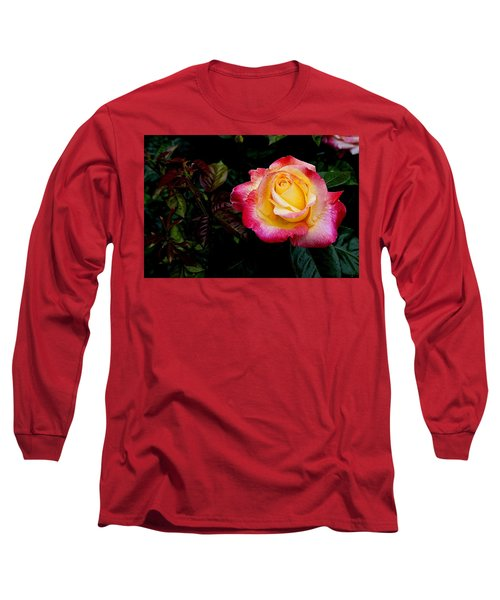 Rose 1 Long Sleeve T-Shirt by Nick Kloepping