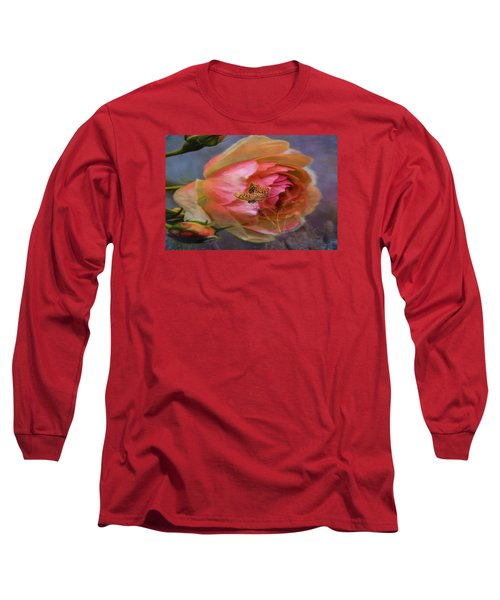 Rose Buttefly Long Sleeve T-Shirt by Leif Sohlman