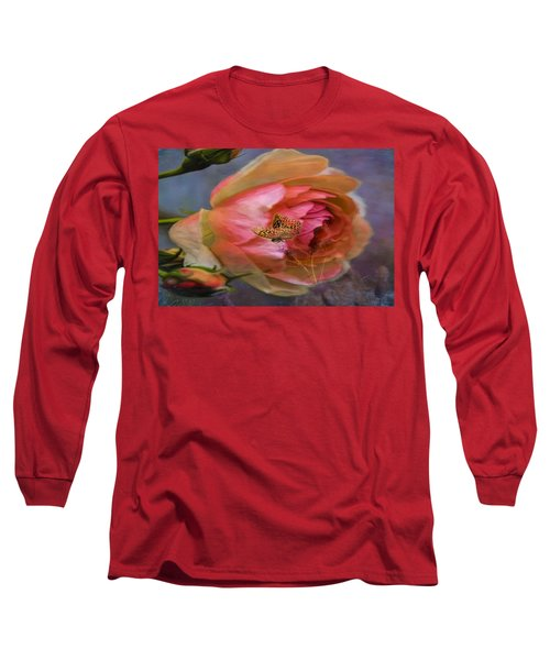 Rose Buttefly Long Sleeve T-Shirt