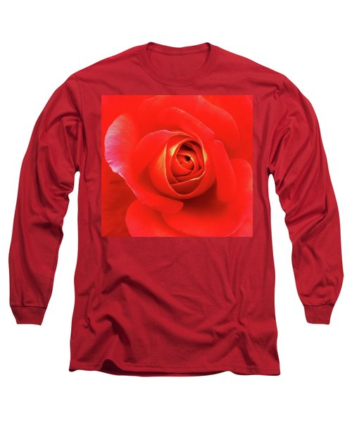 Rose Long Sleeve T-Shirt by Mary Ellen Frazee