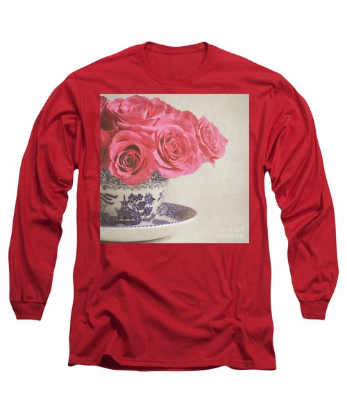 Long Sleeve T-Shirt featuring the photograph Rose Tea by Lyn Randle