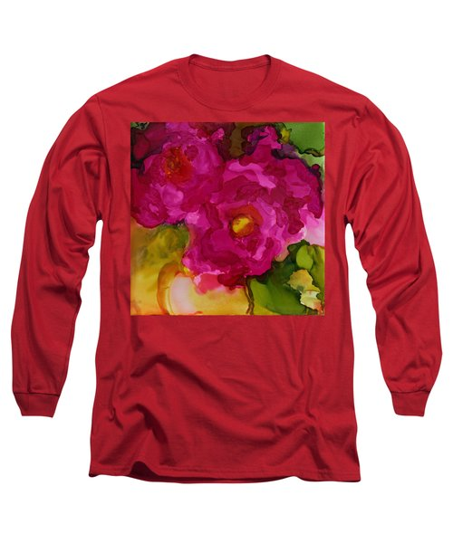Rose To The Occation Long Sleeve T-Shirt by Joanne Smoley