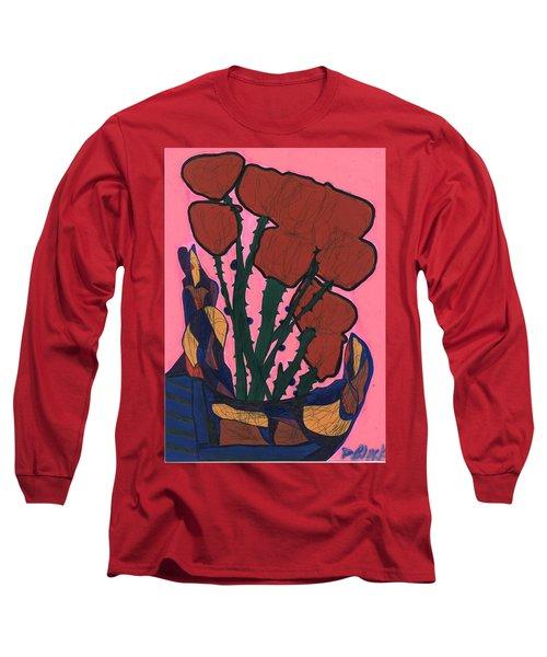 Rosebed Long Sleeve T-Shirt by Darrell Black