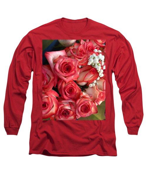 Roses For God Long Sleeve T-Shirt by Carlos Avila