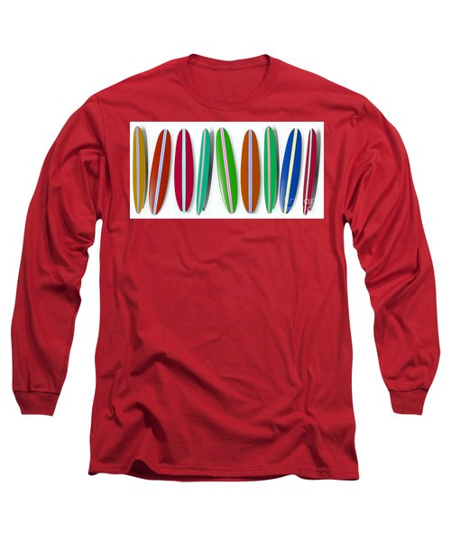 Row Of Surfboards 2 Long Sleeve T-Shirt