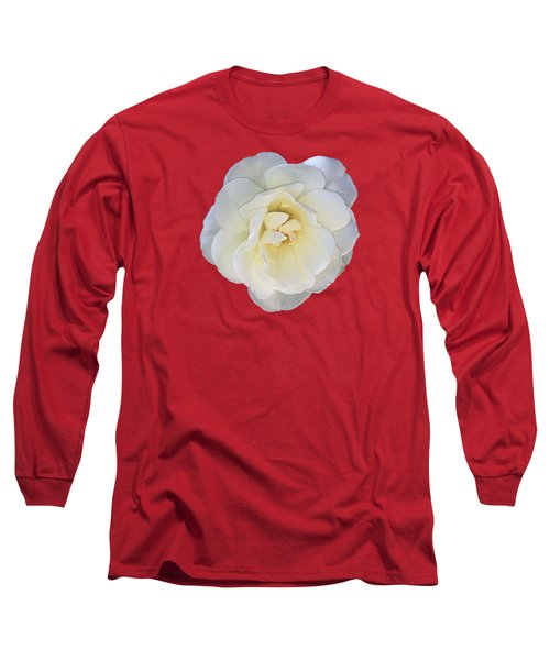 Royal White Rose Long Sleeve T-Shirt by Daniel Hebard