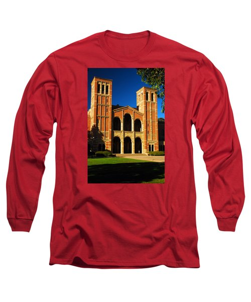 Long Sleeve T-Shirt featuring the photograph Royce Hall Ucla by James Kirkikis