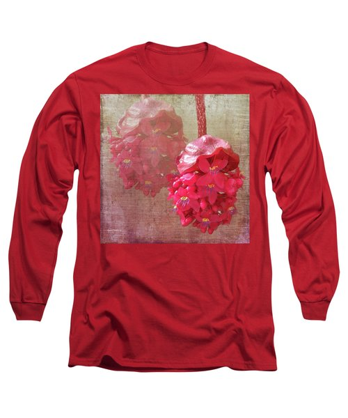Ruby Colored Orchid Long Sleeve T-Shirt