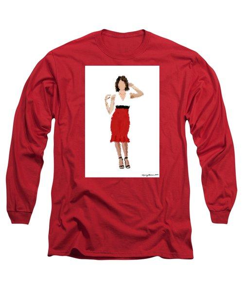 Long Sleeve T-Shirt featuring the digital art Ruby by Nancy Levan